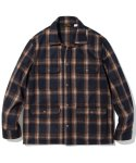 유니폼브릿지(uniformbridge) 18fw wool check camp jacket navy