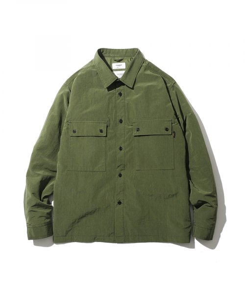 에스피오나지(ESPIONAGE) Belon 107 Padded Shirts Jacket Olive