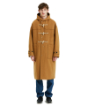 MELTON LONG DUFFLE COAT camel
