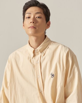 쵸이지(choisi) Cotton Loose Fit Shirt (Beige)