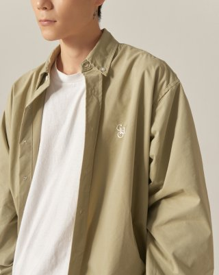 쵸이지(choisi) Cotton Loose Fit Shirt (Olive)