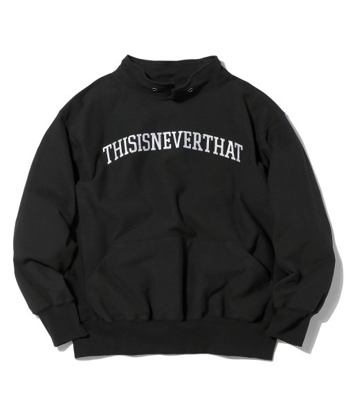 디스이즈네버댓(THISISNEVERTHAT) ARC-Logo S-Collar Sweatshirt Black