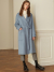 룩캐스트(LOOKAST) BLUE CASHMERE NOTCHED LAPEL HANDMADE COAT