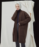 밀로그램() Filer Long Cardigan - brown
