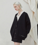 밀로그램() Trunk Heavy Cardigan - black
