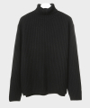 더 티셔츠 뮤지엄(thetshirtmuseum) 18aw heavy wool turtle neck knit [black]