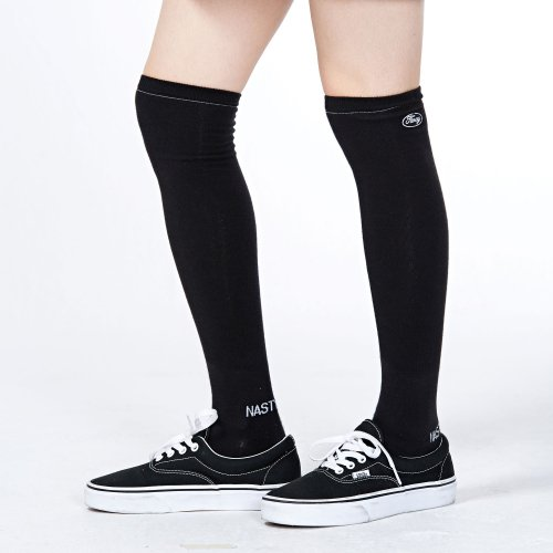 네스티팬시클럽(NASTY FANCY CLUB) [NF] FANCY OVER KNEE SOCKS BLACK (NF18A107H)