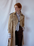 back box-pleats trenchcoat BEIGE