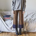 이네스() CHECK POINT CORDUROY PANTS_BROWN