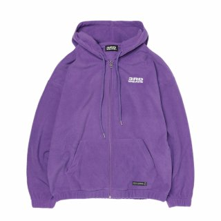 써드위브(thirdweave) FLEECE LOGO ZIP UP HOODIE / PURPLE