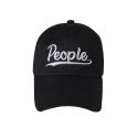 오디너리피플(ORDINARY PEOPLE) people logo black ball cap