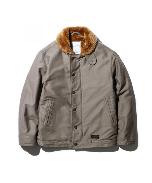 에스피오나지(ESPIONAGE) Lander N-1 Deck Jacket Grey Olive