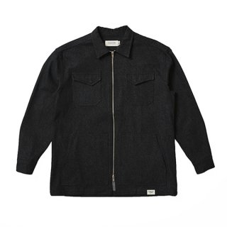 셀렉온(celecon) DENIM TWO-WAY ZIPPER SHIRTS BLACK VG3JK920