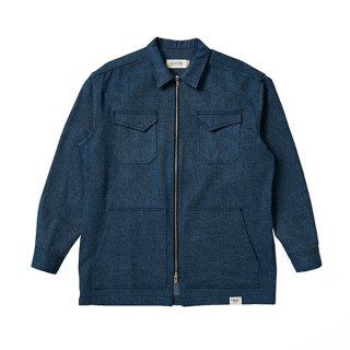 셀렉온(celecon) DENIM TWO-WAY ZIPPER SHIRTS BLUE VG3JK920