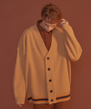 블론드나인(blond9) Three Lines Knit Cardigan