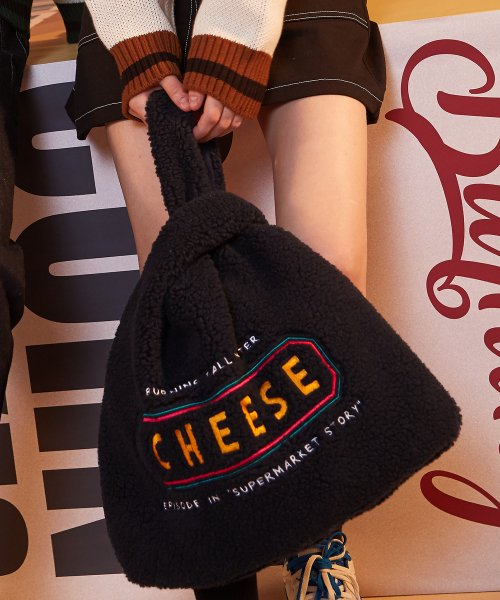 버닝(BURNING) Cheese Fleece Eco-bag (Navy)