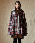 인디고칠드런(INDIGO CHILDREN) OVERSIZED TARTAN CHECK SHIRT JACKET [RED]