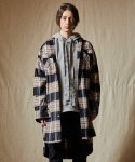 인디고칠드런() OVERSIZED POCKET CHECK LONG SHIRT [BLACK]