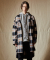 인디고칠드런(INDIGO CHILDREN) OVERSIZED POCKET CHECK LONG SHIRT [BLACK]