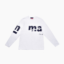 LOGO PRINTED LONG SLEEVE T-SHIRT - WHITE