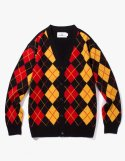 아이졸라() Argyle Check Cardigan - Black
