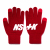 [NK] NSTK BASIC LOGO GLOVES RED (NK18A102H)