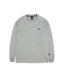 필드매뉴얼() ELBOW BOX LOGO LONG SLEEVE TEE grey