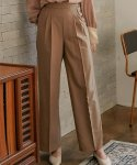 몬츠() 777 wool slacks with side buttons (beige)