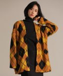 리올그() ARGYLE PATTERN CARDIGAN YELLOW
