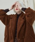 밀로그램(MILLOGREM) Snuggle Teddy Coat - Brown