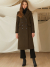 룩캐스트(LOOKAST) KHAKI CLASSY SLIM LONG WOOL DOUBLE COAT