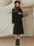 룩캐스트(LOOKAST) BLACK CLASSY SLIM LONG WOOL DOUBLE COAT