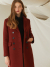 룩캐스트(LOOKAST) BURGUNDY CLASSY SLIM LONG WOOL DOUBLE COAT