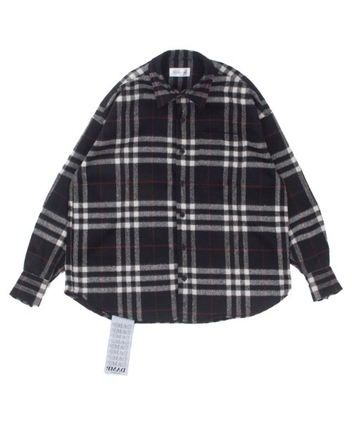 돈애스크마이플랜(DAMP) OVERSIZE WOOL HEAVY FLANNEL CHECK SHIRT