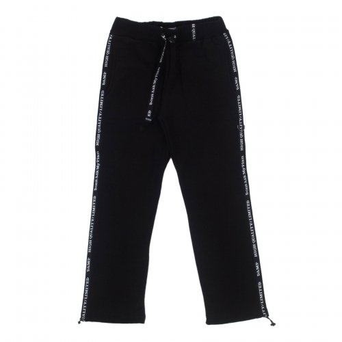 돈애스크마이플랜(DAMP) SLOGAN SIDE LINE SWEAT PANTS 2.0 BLACK
