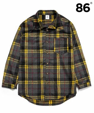 86로드(86road) Napping Wool Check Shirts - Yellow