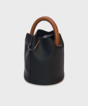 세이모 온도() 한나백 23° Hannah bag - BLACK WITH CROC TAN HANDLE