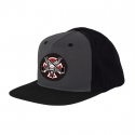 인디펜던트() INDEPENDENT x THRASHER Pentagram Cross ADJ Snapback - Grey/Black