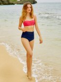 레이브(RAIVE) Colorful High-Waist Bikini Bottom (Navy)_VW8MX0960