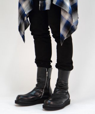 릴리즘프로덕트(relizmproduct) Black Washing Leather Drape KIMERA Boots