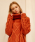 몬츠(MONTS) 825 twist turtleneck knit (orange)