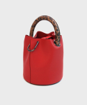 세이모 온도() 한나백 23° Hannah bag - RED WITH LEOPARD BROWN HANDLE