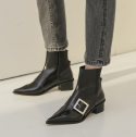 로우어(LOWER) LWW18-2-1 Easy Buckle Boots [black]