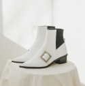 로우어(LOWER) LWW18-2-2 Easy Buckle Boots [white]