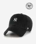 47브랜드(47 BRAND) NY Small Logo Base Runner 47 CLEAN UP Black