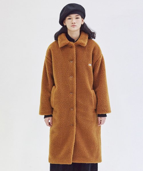 매치글로브(MATCHGLOBE) MG8F DUMBLE LONG COAT (CAMEL)