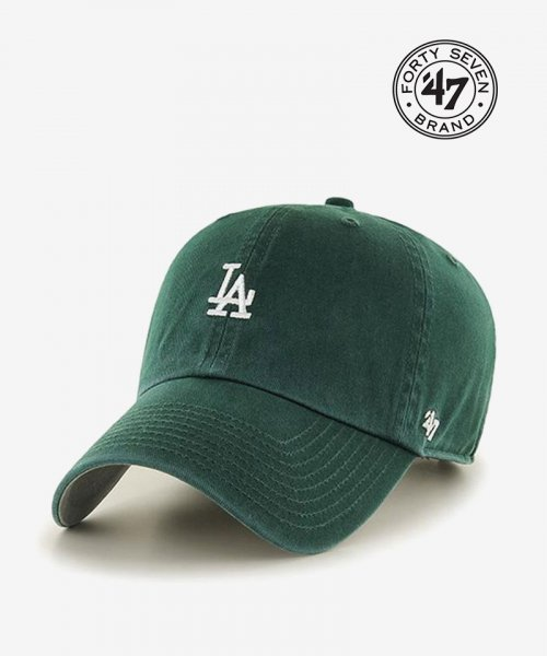47브랜드(47 BRAND) LA Small Logo Base Runner 47 CLEAN UP Dark Green