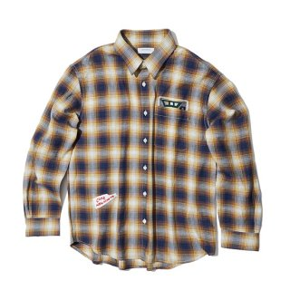 커스텀멜로우(customellow) cotton check artwork shirt_CWSAM19171NYX