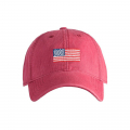 하딩레인(HARDING-LANE) Adult`s Hats American Flag on Weathered Red