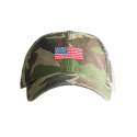Adult`s Hats Flag on Camo